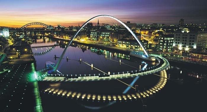 Millenium Bridge near Northumbria University