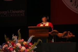 Charles Modica Speaking at Commencement