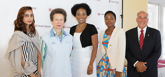 commonwealth jubilee scholarship recipients greet princess royal at st georges university