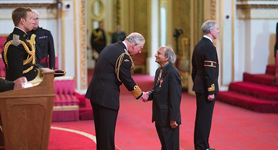 Dr Chamarthy Subbarao is Appointed an Office of the Most Excellent Order of the British Empire