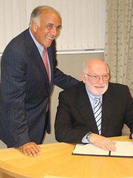 Dr Charles Modica with Professor Kel Fidler
