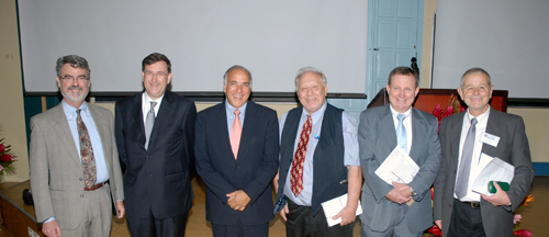 Left to Right: Dr. Fitzhugh Mullan; Dr. John Rowett; Dr. Charles Modica; Dr. Allen Pensick; Dr. Calum Macpherson; Dr. Wally Morrow