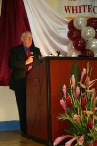 Dr Leon RUssell Speaking at SVM 2006 White Coat