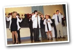 Four Students Receiving White Coats 2006