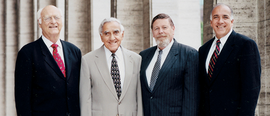 Louis Modica with SGU founders