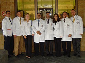 Prague Selective Group Photo in White Coats