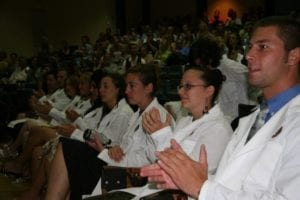 Students Clapping at SVM 2006 White Coat Ceremony