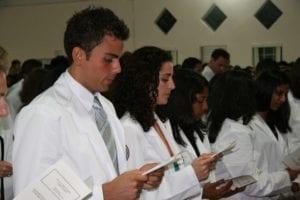Students Reading at White Coat Ceremony 2006