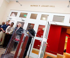 news patrick adams new science hall 2