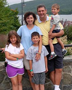 Dr. John Pryor and his family.