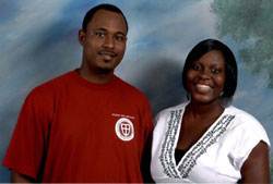 St. George's students Maurice Cox and Denisher Thomas