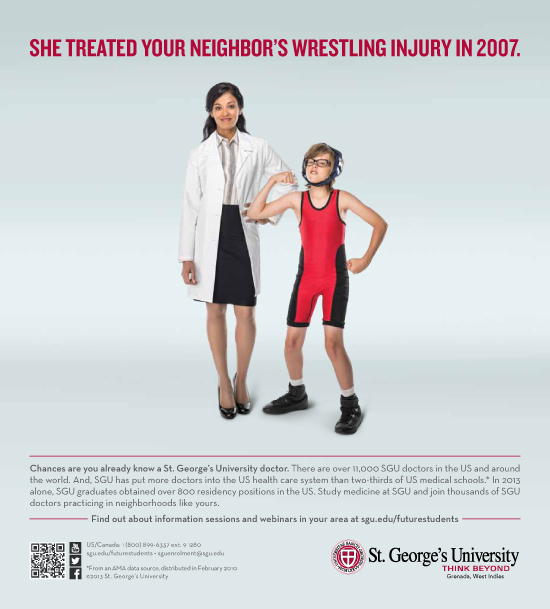 Ad Campaign Highlights St  George's University's Impact on