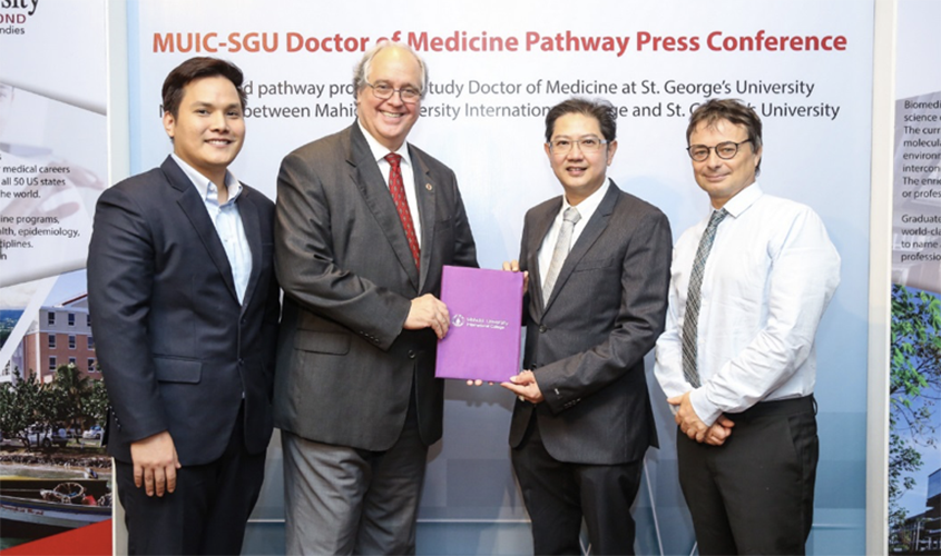 st george s university and mahidol university further partnership