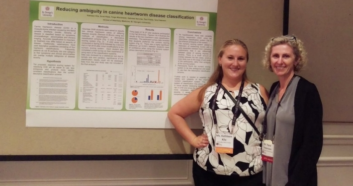 SGU Veterinary Students Present Research at Parasitology Conference and Heartworm Symposium