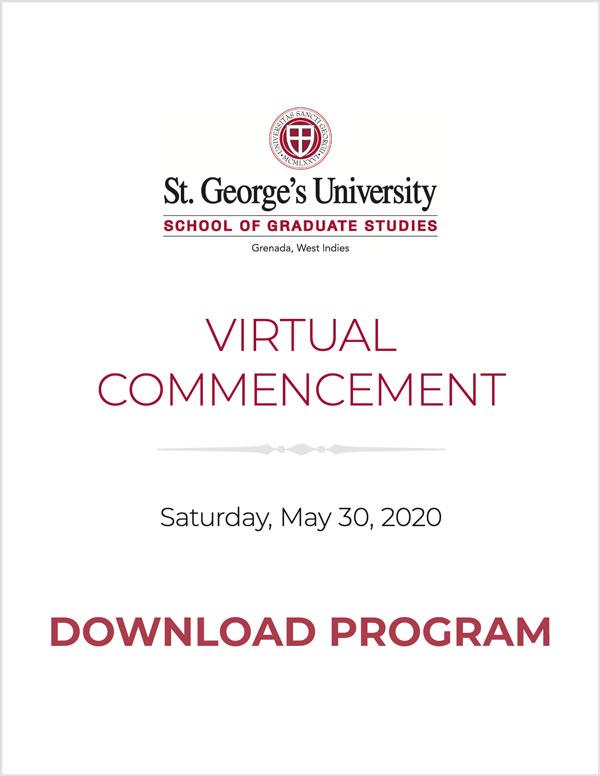 2020 Spring - SGS Commencement Program